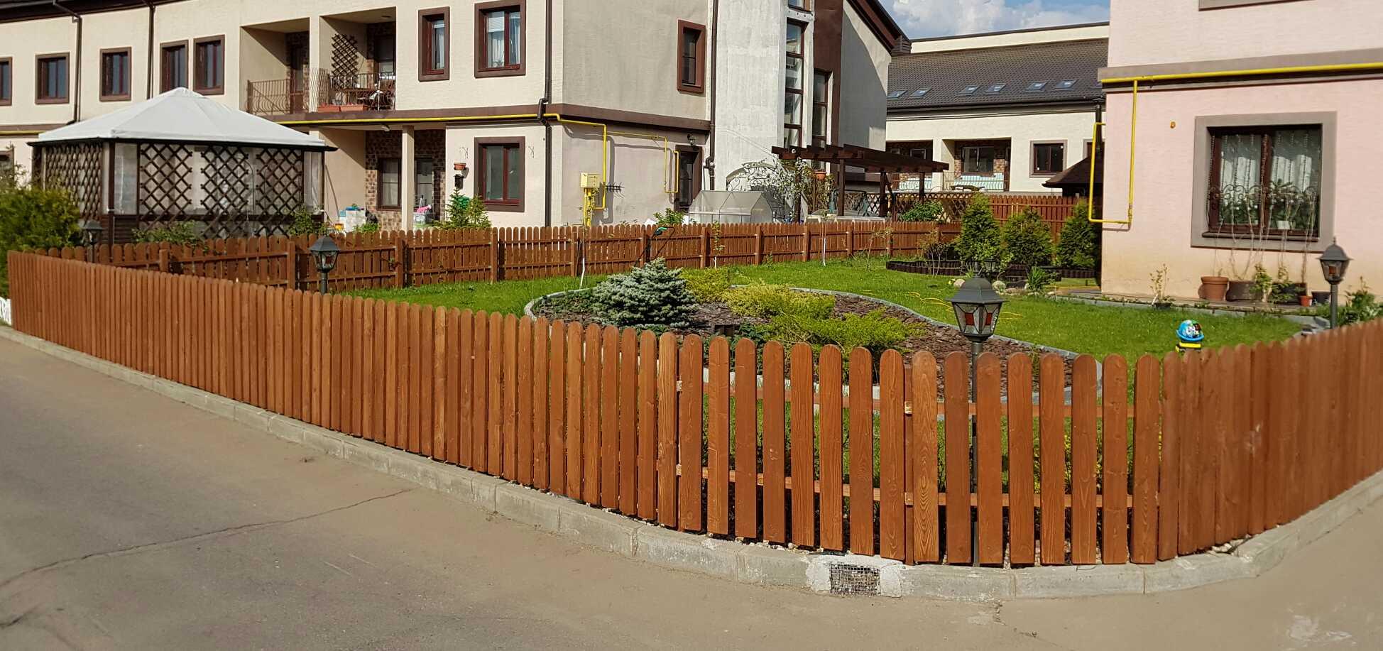 Деревянный забор 0.5м декоративный