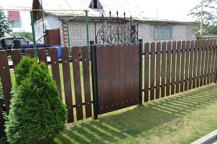 Деревянный забор 1.5м