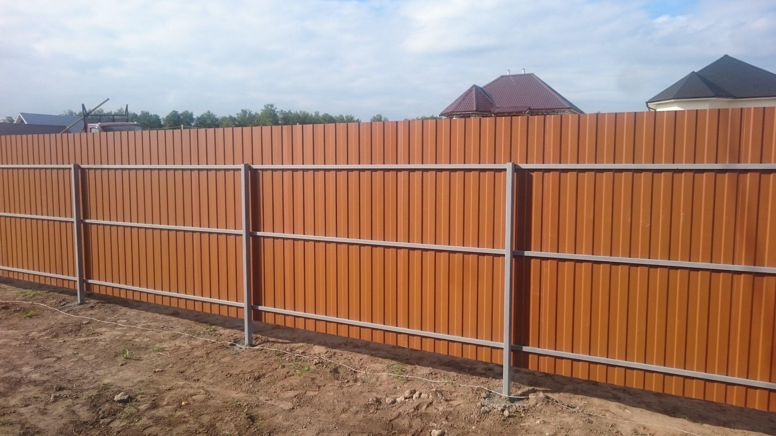 Забор из профнастила принт