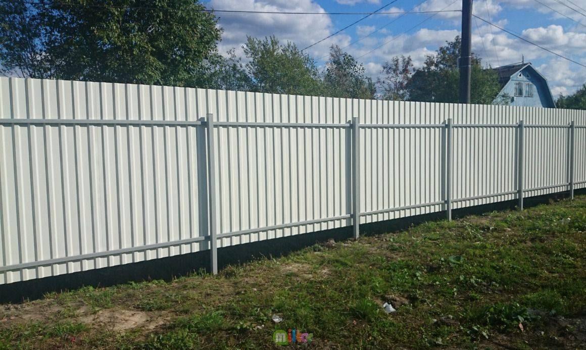 Забор из профнастила грунтовка
