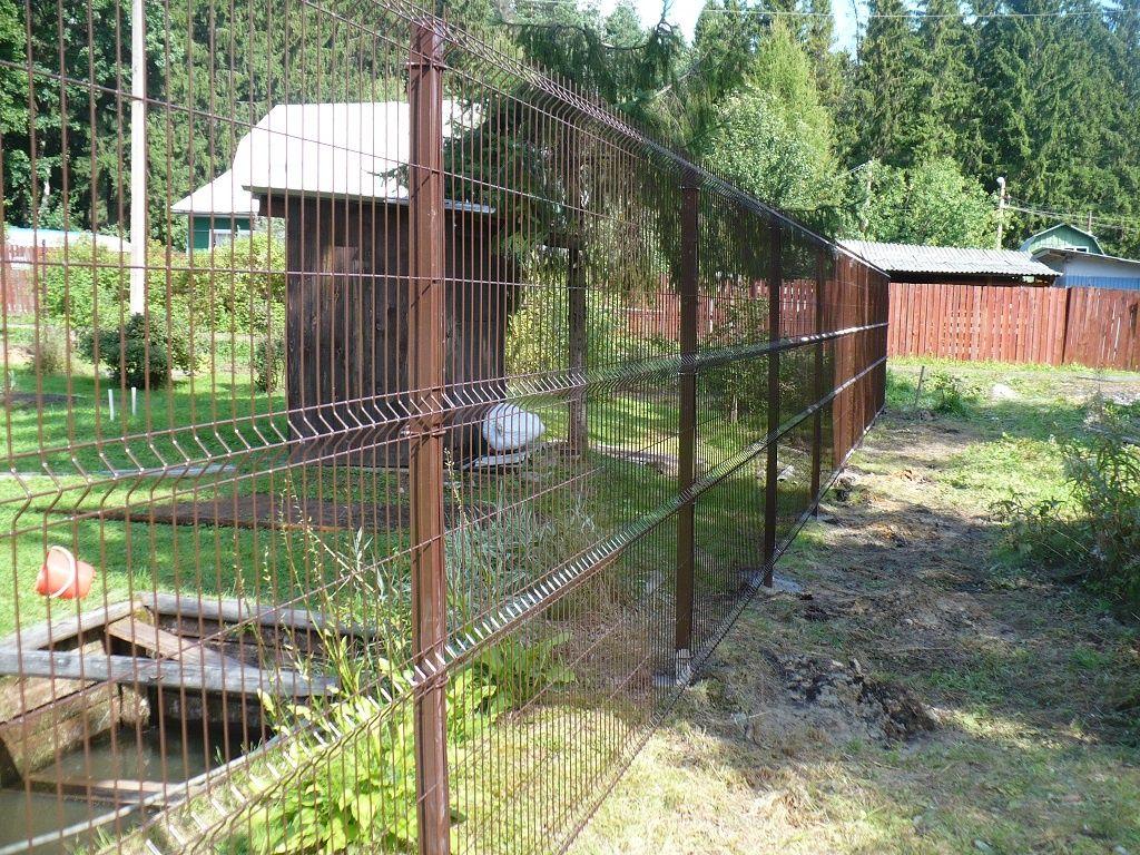 Забор из сетки 3д коричневый
