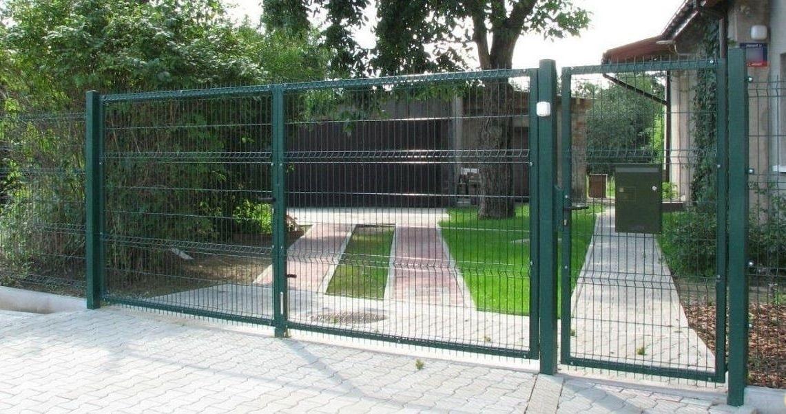 Забор из сетки 3д ворота