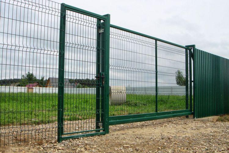 Забор из сетки 3д высокий