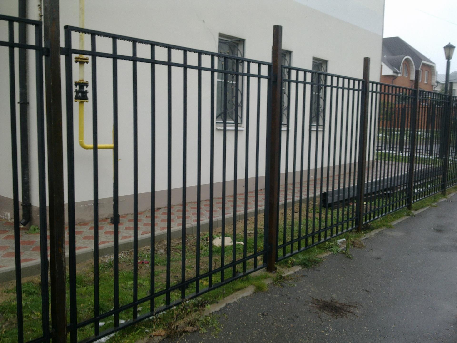 Забор сварной обычный