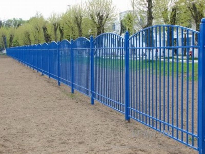 Забор сварной фигурный